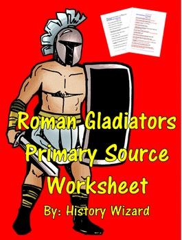 Roman Gladiators Primary Source Worksheet