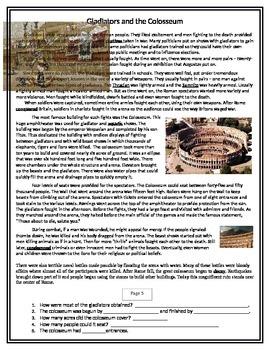 Roman Gladiators and the Colloseum
