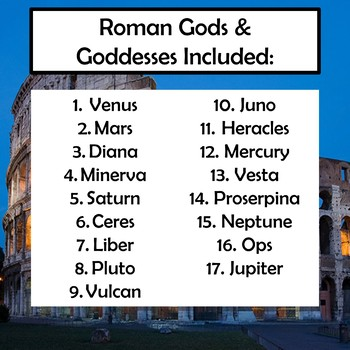 Roman Gods and Goddesses Interactive Fan