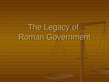 Roman Government and Class Simulation