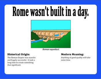 Idioms from Ancient Rome: 7 Poster Set