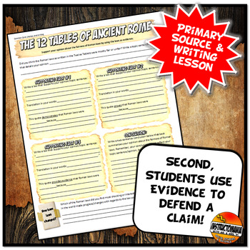 Roman Laws Common Core Writing and Literacy Primary Source Activity