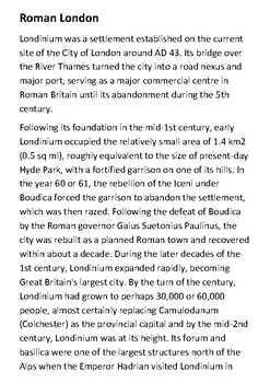 Roman London Handout