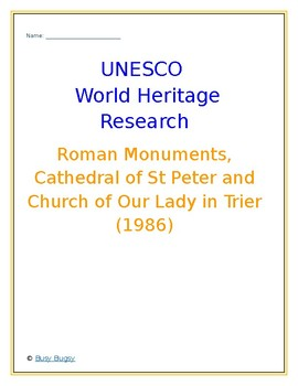 Roman Monuments, Cathedral of St Peter and Church  Germany Research Guide