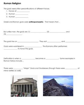 Roman Mythology Activities