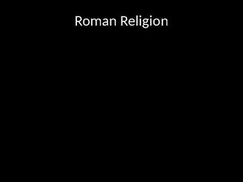 Roman Mythology and Religion