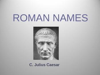 Roman Names PowerPoint
