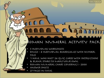 Roman Numeral Activity Pack