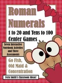 St Valentine's Day Roman Numeral Three In One Center Games and Printables