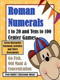 Roman Numeral Three In One Center Games and Printables