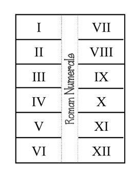 Roman Numeral Foldables! Three foldables.  Interactive Notebook