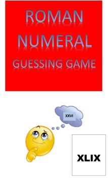 Roman Numeral Guessing Game