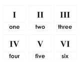 Roman Numeral Nomenclature 3-Part Cards