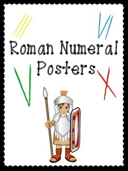 Roman Numeral Posters