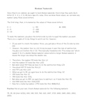 Roman Numeral Worksheet