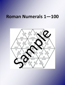 Roman numerals 1 100 math puzzle by math world tpt roman numerals 1 100 math puzzle altavistaventures Image collections