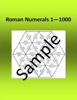 Roman Numerals 1 – 1000 – Math puzzle