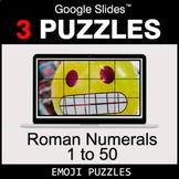 Roman Numerals (1 to 50) - Google Slides - Emoji Puzzles