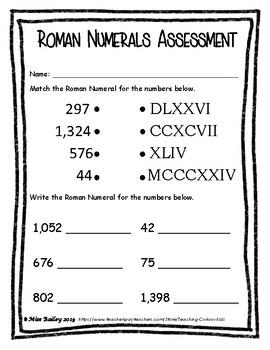 Roman Numerals Freebie