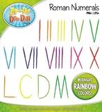 Roman Numerals Clipart — Fun & Bright Rainbow Colors!