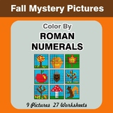 Roman Numerals - Color by Number - Autumn Math Mystery Pictures