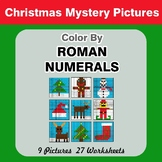 Roman Numerals - Color by Number - Christmas Mystery Pictures