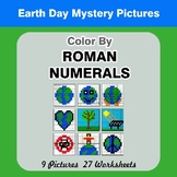 Roman Numerals - Color by Number - Earth Day Math Mystery Pictures