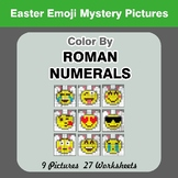 Roman Numerals - Color by Number - Easter Emoji Math Mystery Pictures