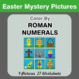 Roman Numerals - Color by Number - Easter Math Mystery Pictures
