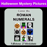 Roman Numerals - Color by Number - Halloween Math Mystery Pictures