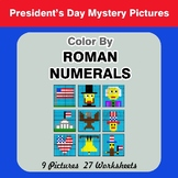 Roman Numerals - Color by Number - President's Day Mystery Pictures