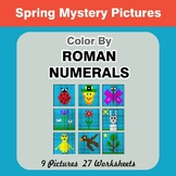 Roman Numerals - Color by Number - Spring Math Mystery Pictures