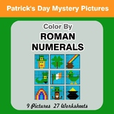 Roman Numerals - Color by Number - St. Patrick's Day Math Mystery Pictures