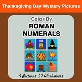 Roman Numerals - Color by Number - Thanksgiving Math Mystery Pictures