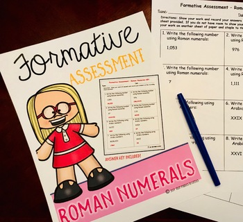 Roman Numerals {Formative Assessment}