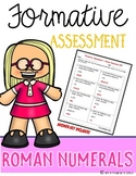 Roman Numerals {Formative Assessment}