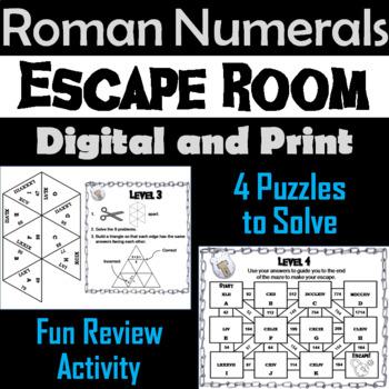Roman Numerals Game: Escape Room Math