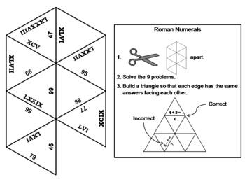 Roman Numerals Game: Math Tarsia Puzzle