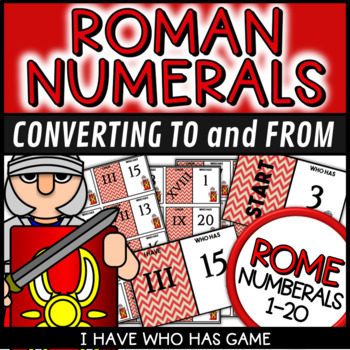 Roman Numerals Worksheets Poster and Puzzles