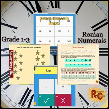 Roman Numerals:  Grade 1&2 Interactive Resources Set