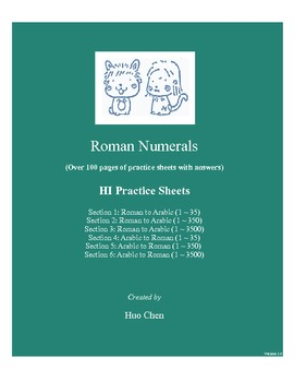 Roman Numerals  (HI Practice Sheets)