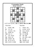 Roman Numerals I & II (Cross-number Puzzles)