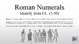 PPTM - Roman Numerals I-L (1-50)  (randomized activity)