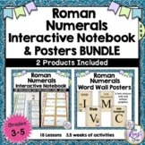 Roman Numerals Interactive Notebook Grades 3-5 Plus Roman