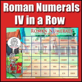 Roman Numerals Lesson - 4 in a Row Roman Numerals Game - Heaps of Fun