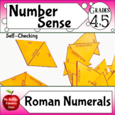 Roman Numerals to 1000 Self Checking Math Center Activity