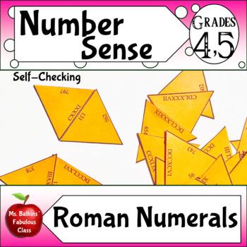 Roman Numerals Math Center Activity