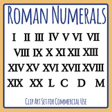 Roman Numerals Maths Clip Art Set Commercial Use
