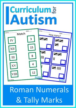 Roman Numerals, Tally Marks, Match & Count, Autism Life Sk