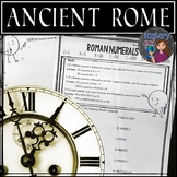 Ancient Rome: Roman Numerals Worksheet